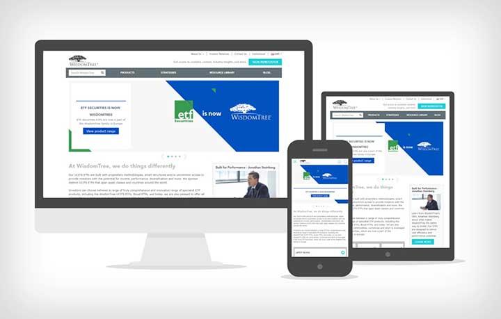 Esplora il sito web di WisdomTree
